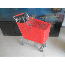 Hot Sale Colorful Plastic Shopping Cart