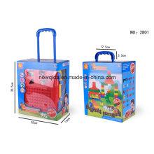 Bau 64 STÜCKE 69 STÜCKE Gepäck Bausteine Baby Spielzeug