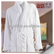 wholesale fluffy 100% cotton coral fleece bathrobe