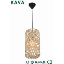 Birdcage shape Bamboo pendant lamp for home and garden