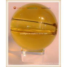 Большой кристалл стеклянный шар с отверстием (S0113)
