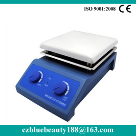laboratory digital magnetic stirrer with hot plate