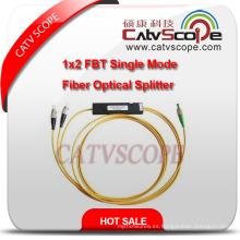 Divisor óptico de fibra del solo modo 1X2 Fbt de alta calidad