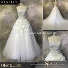 Nuevo vestido de boda de lujo de la sirena del satén de la alta calidad