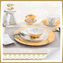 Conjunto de louça de porcelana espanhola estilo Polônia conjunto dinne