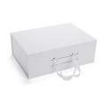 Foldable Rigid Gift Box with Ribbon Handle