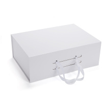 China for Collapsible Paper Packaging Box Foldable Rigid Gift Box with Ribbon Handle export to Portugal Importers