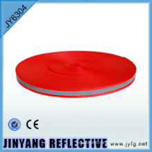 High visibility Polyester single face reflective webbing ribbon