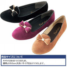 Chic round toe with delicate bow women leisure shoes casual ladies flat shoes