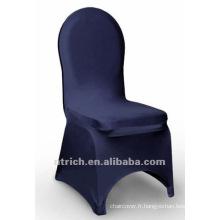 couverture de chaise de banquet, couverture de chaise de lycra, CTS803 bleu marine, adapté pour toutes les chaises