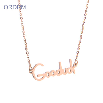 Rose Gold Good Luck Charm Necklace Untuk Wanita