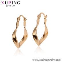 95138 xuping China atacado fábrica brinco de moda modelos novo modelo 18 k banhado a ouro brinco de argola