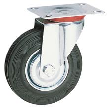 100, 125mm Iron + Rubber Industrial Caster, tipo giratório