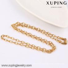42944 Fashion Cool muestra 18k oro aleación de cobre Imitation Jewelry Chain Necklace