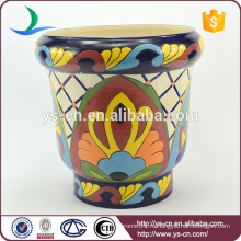 YSfp0001-01 Morden старинные ручной печати керамический цветочный горшок