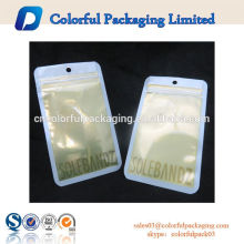 Wholesale plastic bag new design mobile phone pouch with zipper