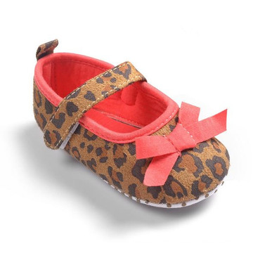 Foreign Trade In Leopard Female Baby Princess Shoes