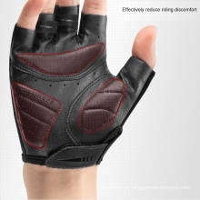 SBR Shock-Absorbing Palm Pad Colorful Reflective Half-Finger Gloves Bicycle Riding Gloves