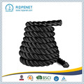 Black Poli Dacron Battle Fitness Rope