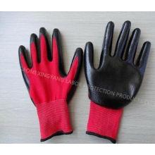 Натриб с покрытием труда Защитные рабочие перчатки безопасности (N7003)