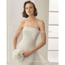 Elegante 2014 sin tirantes de encaje sirena vestido de novia con una chaqueta de encaje desmontable fuera de hombro de manga corta NB007