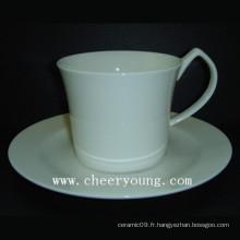 Tasse à café et soucoupe (CY-B548)