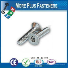 Fabriqué en Taiwan DIN 7500 Pozi Pan Head Pozi Flat Countersunk Head Thread Forming Screws Metric Thread