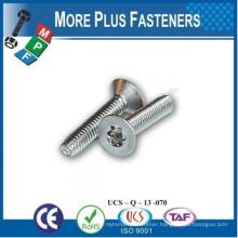 Made In Taiwan DIN 7500 Pozi Pan Head Pozi Flat Countersunk Head Thread Forming Screws Metric Thread