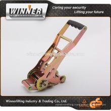 2'', 5T long handle adjustable tie down, ergo type reversed ratchet belt buckle