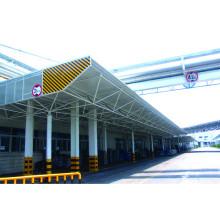 Structure de l'acier léger Canopée de la station-service