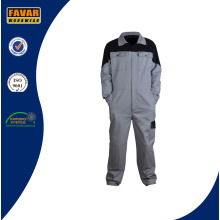 Two Tone 100%Cotton Twill Working Coverall in Grey/Black