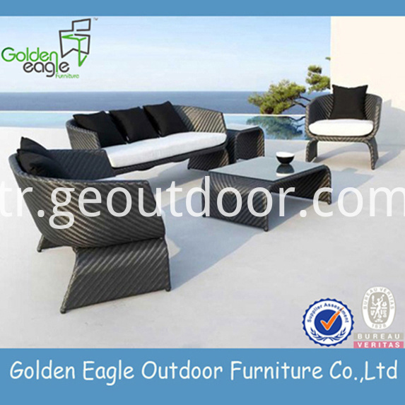 Uv-resistant PE Wicker Sofas Furniture