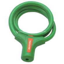 Green Color Bike Lock Steel Cable Lock