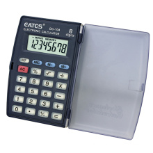 Cheap OEM Factory 8 Digits Mini Pocket Hand Held Calculator With Flip Cover Button Cell Power Electronic Calculator