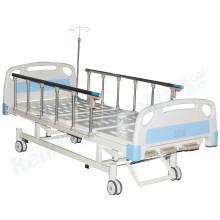 Cama médica manual de três funções para cuidados hospitalares