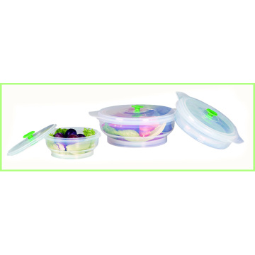 Conjunto de 3 Silicone Folding Lunch Bowl