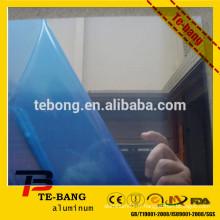 Feuille de miroir en aluminium avec film PVC bleu