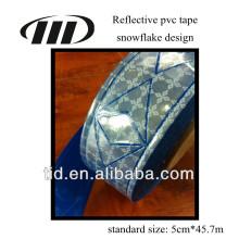 Bande de matériau prismatique réfléchissante en PVC