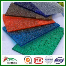 Factory colored PC Big Embossed sheet