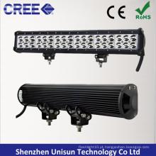"""Barra de luz LED CREE 3W com duas filas à prova d'água de 20 """"126 W"""