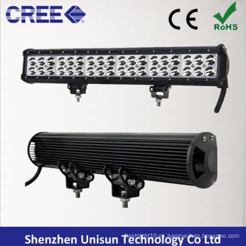 Barra de luz LED impermeable de 20 pulgadas y 126 W de doble fila CREE 3 W