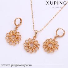 61912-Xuping Fashion Damen Schmuckset mit 18 Karat Vergoldet