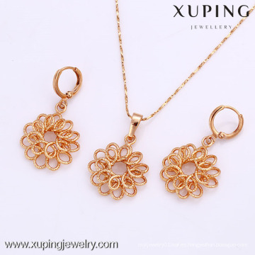 61912-Xuping Fashion Woman Jewlery engastado con oro de 18 quilates