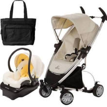 Quinny Zapp Xtra Folding Seat Stroller Travel System W Diaper Bag Natural Mavis