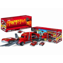 Die-Cast Parking Lot Set Toy F/W Drag Head Car/with Light/Music/Use 3*AA Fire Control