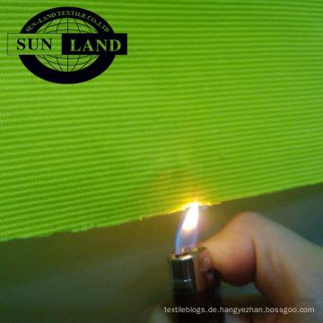 China Fabrikverkauf Antiflaming Stoff 97% Polyester 3% Spandex gestrickter Ottoman Stoff für Arbeitskleidung