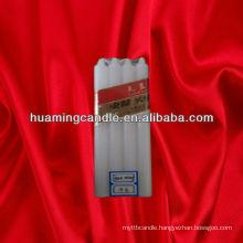 long burning white household candles