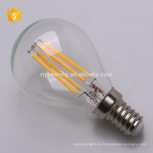 El bulbo ligero caliente del filamento de 2W 3W 4W 5W llevó P45 e14 basó los ce rohs enumerados