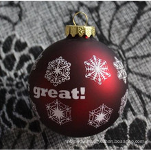 christmas snow ball ornaments