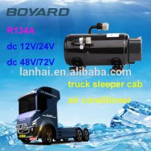 Compressor 12v ac para auto telhado montado condicionador de ar com boyard mini dc compressor